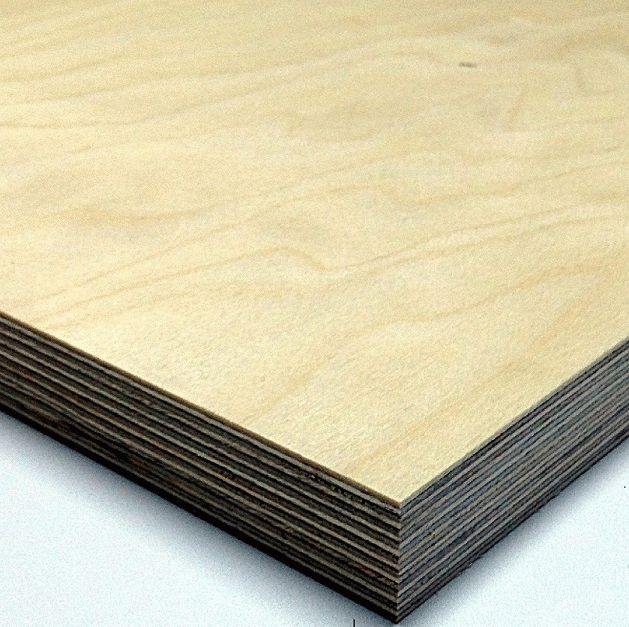 Interior Birch Plywood 4 mm (1525x1525), Grade BB/C image from VULDI COMPANY